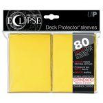 Protèges Cartes Accessoires Sleeves Ultra-pro Standard Par 80 Eclipse Jaune Matte