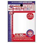 Protèges Cartes Format JAP  Kmc - Mini Pearl White (Blanc & Lisse par 50)