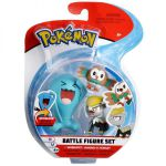 Figurine Pokémon 3 Battle Figure Set - Qulbutoké - Bébécaille - Brindibou