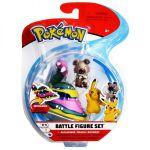 Figurine Pokémon 3 Battle Figure Set -Grotadmorv d'Alola - Pikachu - Rocabot