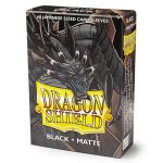 Protèges Cartes Format JAP Yu-Gi-Oh! Sleeves Dragon Shield Mini Noir Matte - par 60