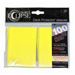 Protèges Cartes Accessoires Sleeves Ultra-pro Standard Par 100 Eclipse Jaune Matte