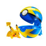 Figurine Pokémon Clip'n Go Poké Ball  - Pikachu + Quick ball