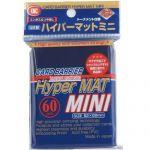 Protèges Cartes Format JAP  Kmc - Mini Blue Hyper Mat (Bleu & Matte par 60)