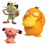 Figurine Pokémon 3 Battle Figure Set - Psykokwak - Miaouss - Snubbul