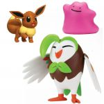 Figurine Pokémon 3 Battle Figure Set - Efflèche - Evoli - Métamorph
