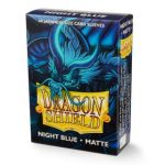 Protèges Cartes Format JAP  Sleeves Dragon Shield Mini Night Blue (Bleu Foncé) Matte - par 60