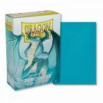 Protèges Cartes Format JAP Accessoires Sleeves Dragon Shield Mini Par 50 Turquoise (Lisse)