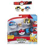 Figurine Pokémon Ceinture de Dresseur avec Poké ball Série 3 - Évoli