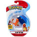 Figurine Pokémon Clip'n Go Poké Ball Série 3 - Salamèche + Super Ball