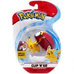 Figurine Pokémon Clip'n Go Poké Ball Série 3 - Pikachu + Bis Ball