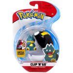 Figurine Pokémon Clip'n Go Poké Ball Série 3 - Goinfrex + Hyper Ball