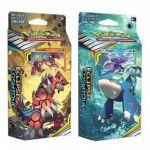 Decks Préconstruits Pokémon SL12 - Soleil Et Lune 12 - Eclipse Cosmique - Lot de 2 deck : Kyogre - Abysses Obscurs & Groudon - Sommets Vertigineux