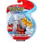 Figurine Pokémon 3 Battle Figure Set - Matoufeu, Goupix d'Alola & Pikachu