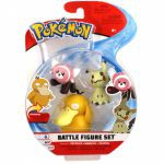 Figurine Pokémon 3 Battle Figure Set - Psykokwak, Mimiqui & Nounourson
