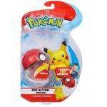 Figurine Pokémon Pop Action - Peluche Pikachu + Poké Ball