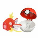 Figurine Pokémon Pop Action - Peluche Magicarpe + Poké Ball
