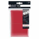 Protèges Cartes Standard  Sleeves Ultra-pro Standard Par 100 Rouge Matte