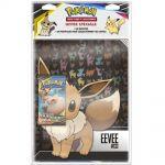 Portfolios Pokémon Evoli - (10 Feuilles De 9 Cases 180 Cartes) + 1 Booster SL9 Duo de Choc