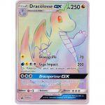 Cartes Spéciales Pokémon Carte Géante Jumbo Dracolosse GX (SM156) Full ART Raimbow 250 PV