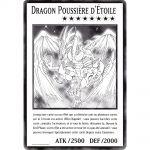 Cartes Spéciales Yu-Gi-Oh! DUOV - Carte Géante Jumbo - Dragon Poussière d'Étoile