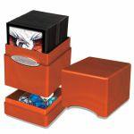 Deck Box  Satin Tower Deck Box Hi-Gloss Pumpkin ( Compartiment avec Dé )