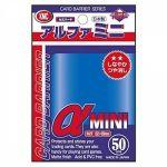 Protèges Cartes Format JAP  Kmc - Alpha Mini Bleu - par 50