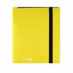 Portfolio  Pro-binder - Eclipse - Jaune Citron (Lemon Yellow) - 160 Cases (20 Pages De 8 Cases)