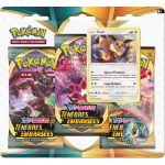 Boosters en Français Pokémon Tripack 3 Boosters - EB03 - Épée et Bouclier 3 Ténèbres Embrasées - Evoli