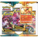 Boosters en Français Pokémon Tripack 3 Boosters - EB03 - Épée et Bouclier 3 Ténèbres Embrasées - Pyroli