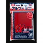 Protèges Cartes Standard  Kmc - Alpha Mini Rouge - par 50