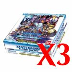 Boite de Boosters Anglais Digimon Card Game Boite De 24 Boosters - Special Ver.1.0 - Lot de 3