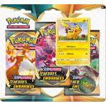 Coffret Pokémon Tripack 3 Boosters - EB03 - Épée et Bouclier 3 Ténèbres Embrasées - Pikachu