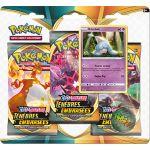 Boosters en Français Pokémon Tripack 3 Boosters - EB03 - Épée et Bouclier 3 Ténèbres Embrasées - Bibichut