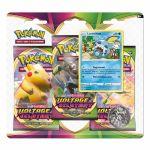 Coffret Pokémon Tripack 3 Boosters - EB04 - Épée et Bouclier 4 Voltage Eclatant - Larméléon
