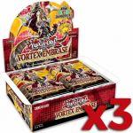 Boite de Boosters Français Yu-Gi-Oh! 24 Boosters - Vortex Embrasé - Lot de 3