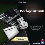 Jeu de Plateau Gestion Backgammon - Série Noire