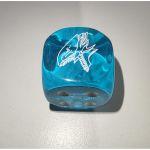 Dés Yu-Gi-Oh! Dé À 6 Faces bleu - Dragon Blanc Aux Yeux Bleus