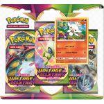 Coffret Pokémon Tripack 3 Boosters - EB04 - Épée et Bouclier 4 Voltage Eclatant - Flambino