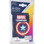 Protèges cartes Spéciaux  50 Prime Sleeves - 66x91mm Standard Card Game - Marvel Captain America