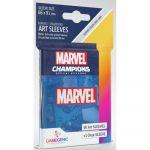 Protèges cartes Spéciaux  50 Prime Sleeves - 66x91mm Standard Card Game - Marvel Bleu