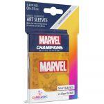 Protèges cartes Spéciaux  50 Prime Sleeves - 66x91mm Standard Card Game - Marvel Orange