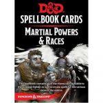 Jeu de Rôle Aventure D&D5 Spellbook Cards - Cartes de Sorts - Races & Puissance Martiales