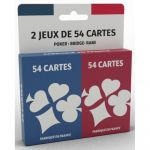 Jeu de Cartes  Jeu de Rami - 2 x 54 cartes - Basic Ecopack