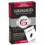 Jeu de Cartes Best-Seller Jeu de 54 cartes - Grimaud Expert - Bridge Symétrique - Rouge