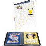 Portfolio Pokémon 25 ans - Format A5 de 30 Cartes Grand Format + Une carte Pikachu Géante