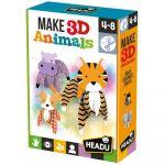 Ludo-Educatif Enfant Make 3D animals - Construis des animaux en 3D