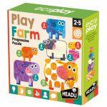 Ludo-Educatif Enfant Play Farm Progressive Puzzle