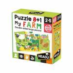 Ludo-Educatif Enfant PUZZLE 8+1 FARM