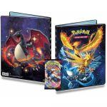 Portfolio Pokémon Dracaufeu & Artikodin/Sulfura/Electhor - A4 - 9 Cases + 1 Booster Epée et Bouclier EB01